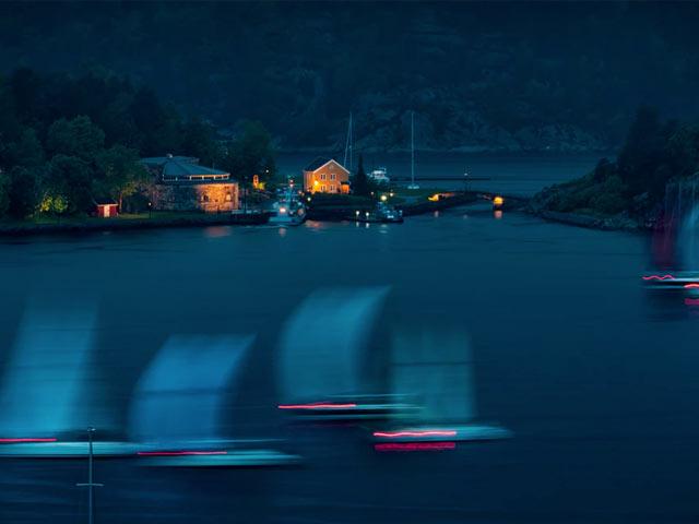 Oslofjorden om kvelden